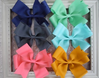 You Pick One Big Pinwheel Bow Hair Bow in This Seasons Hottest Colors