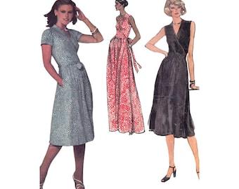 Vintage 1970s Diane Von Furstenberg Wrap Dress Bust 34 Vogue Sewing Pattern 1610 Evening or Day Length V Neck Dress DVF