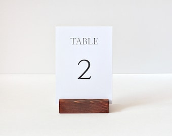 Rustic table Number holder / Wooden Card Holders / Table menu Stands / Reception / Wedding / Event / Sign holders / Restaurant menu holders