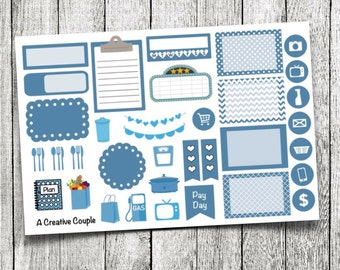 Blue Assortment Planner Stickers