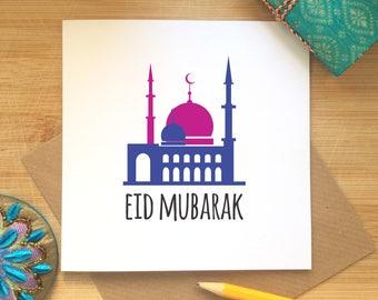 Islamic Greeting Card, Eid Celebrations, Eid Mubarak Card, Ramadan Kareem, Happy Eid, Muslim Festival, Religious Occasion Card, Ethnic Card,