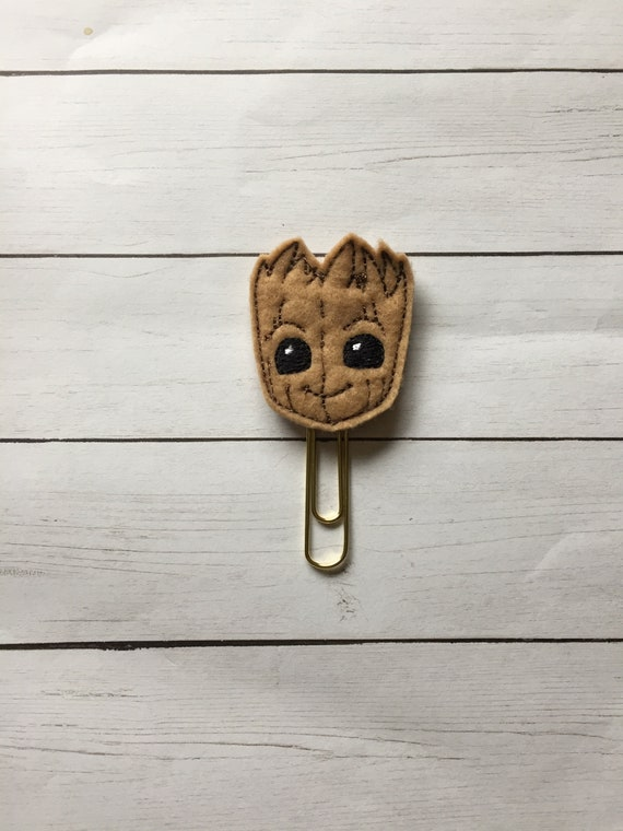 Groot Face Planner Clip. Tree Guy planner Clip/Bookmark. Character Planner Clip. Galaxy planner clip. Guardian planner clip. Groot
