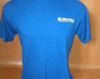 Vintage Subaru World Rally Team Vintage Tshirts Subaru