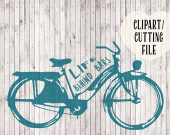 life behind bars bike svg, svg cutting files, commercial svg, svg designs, vector files, silhouette cameo svg, svg files for cricut, clipart