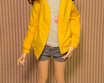 PREORDER || Yellow Cardigan for minifee dc kid and slim msd