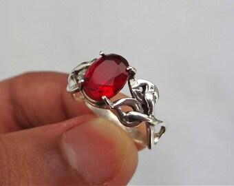 Garnet ring, , 92.5% sterling silver ring, silver Garnet ring, ring, sterling silver ring, peridot silver ring, women's ring,handmade ring