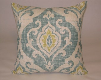 pillow cover scroll design in peaceful spa like colors