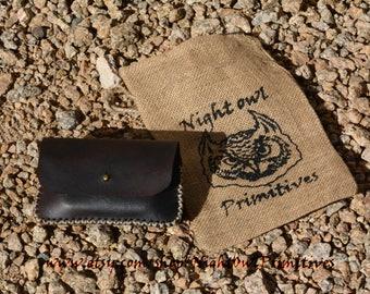 Leather Altoids tin belt pouch