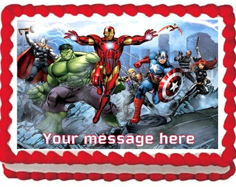 THE AVENGERS Image Edible cake topper party