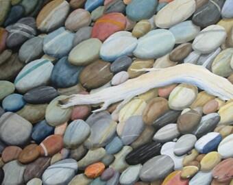 Pebbles of aegean sea 100x70 cm