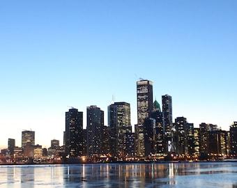 Chicago Skyline at Dusk (Digital Download)