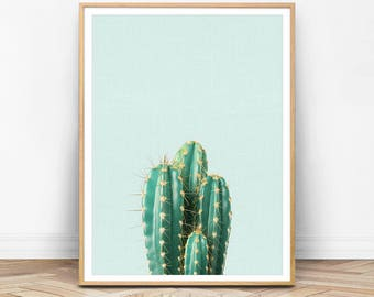 Cactus Wall Art, Botanical Print, Plant Print, Cactus Print, Cactus Wall Printable, Cactus Art, Green Decor, Plant Photo, Cactus Photo, AQ01