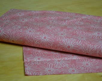 Cotton Floral Quilting Fabric 1 Yard from Maywood Studio in Coral
