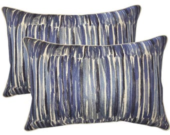 Donghia Down Feather Embroidered Designer Bolster Pillows - Set Of 2