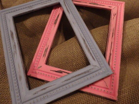 SALE Distressed Picture Frames Chalk Painted Frames 5x7 picture ...