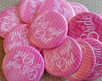 "1.25"" Candy Pink Bachelorette Party Buttons"