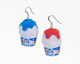 Kakigori Shaved Ice Snow Cone Earrings
