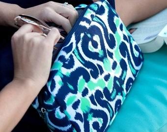 Monogram Makeup Bag Monogram Cosmetic Bag Luna Lagoon Zip pouch Cosmetic Bag Monogram Make up Bag Monogrammed Bridesmaids Gifts for Her