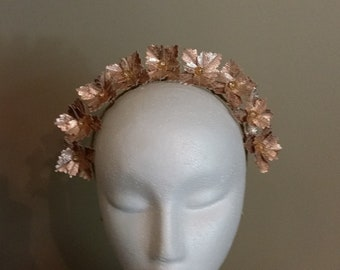 Rose Gold Leather Crown Head Piece