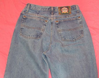 Vintage  Womens Ikeda High Waisted Button Front Tapered Leg Jeans