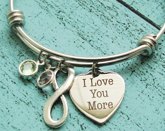 wife gift, girlfriend gift, I love you more, I love you bracelet, Valentines day gift, anniversary gift for her, best friend gift, romantic