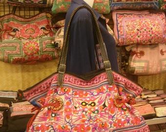 Tote/vintage -Tribal-Handmade Ethnic Hmong Bag 021