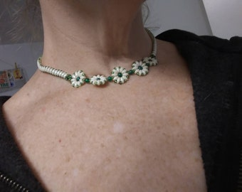 Simple and Pretty beaded choker