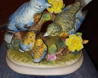 Milano porcelain sculpture by Eda Mann - Bird Family