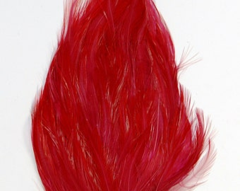 3 pcs HACKLE Feather Pads - Burgundy