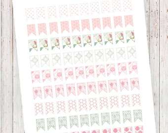 Pretty in Pink Page Flags   Planner Printables   MAMBI HP, ECLP, and More!