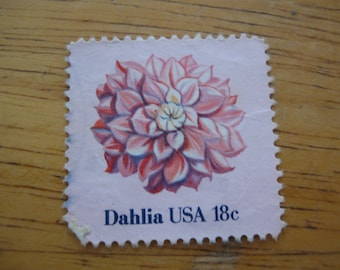 Vintage Stamp Dahlia usa 18 cents stamp Old Stamps Free Shipping