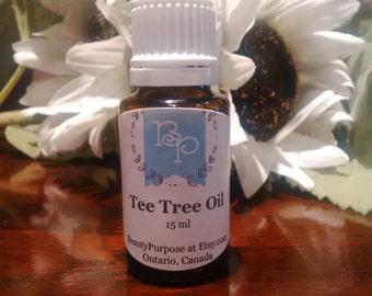 2 Bottles Pure Tea Tree Oil for Acne Free Skin total 30 ml / 1 oz