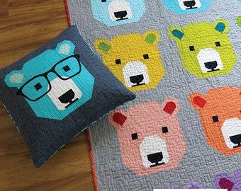 Bjorn Bear Elizabeth Hartman Quilt Modern Pattern 4 Sizes