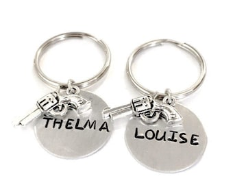 Thelma and Louise friendship keychain