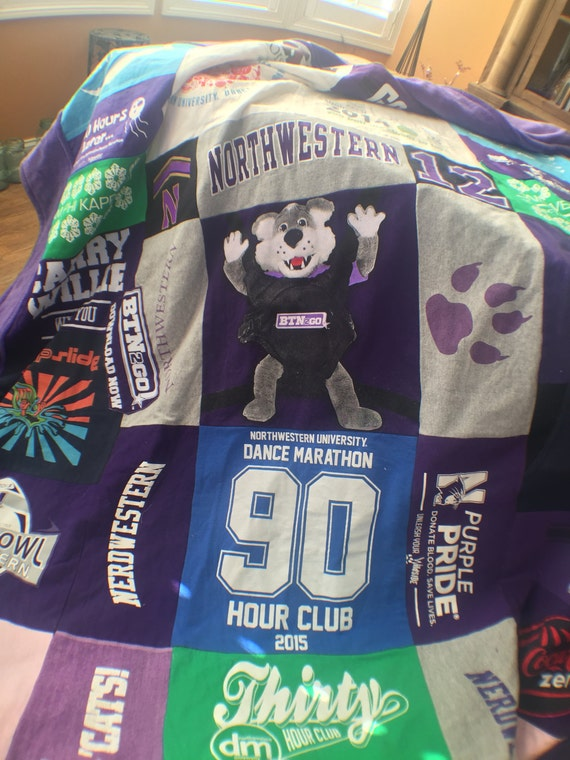 T-Shirt Blanket, T-Shirt Quilt, Double Sided T-shirt Blanket, Memory Quilt, Memory blanket, Custom Made,