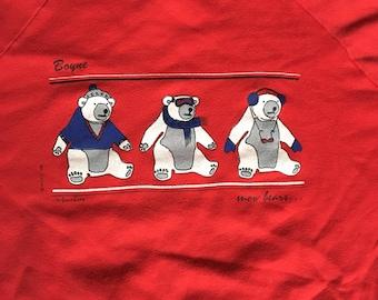 1986 Boyne Michigan snow bears sweatshirt USA xl