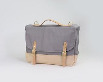 Canvas Laptop Messenger Bag Leather Canvas Messenger Bag, Crossbody, Shoulder Bag
