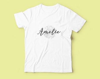Personalised Kid's Marble Name Tshirt - Unisex Custom Shirt, Toddler Clothing, Graphic Print T-Shirt, Modern Kids Clothes, Boy Girl Gift