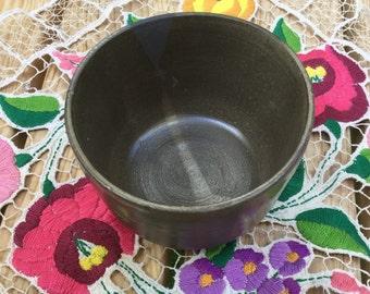 Small Ceramic Bowl, Breakfast Bowl, Ceramic Serving Bowl, Small Pottery Bowl, Modern Pottery Bowl, Black Ceramic Bowl, Herbal Tea Bowl
