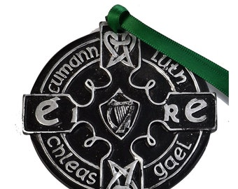 Irish GAA Silver And Black Medal 80mm [DS-5TTD-RI65]