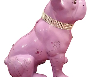 "Statue of ceramic French Bulldog. Model ""Dandy"", by Laure Terrier, for decoration. 8.6 inches of height"