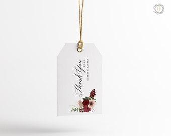 Wedding Favor Tags, Favor Tags, Floral Thank You Tags, Gift Tags, Wedding Gift Tags, Wedding Favor Tags, Printable Favor Tags, #IBP