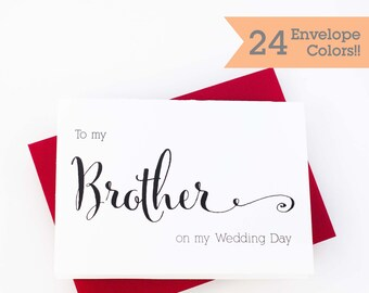 Wedding Card to your Brother, Wedding Cards, Thank you card for Brother (WC063-CN)