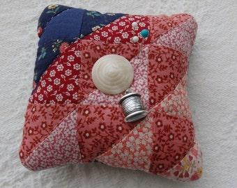 Patchwork Pin Cushion, Cutter Quilt Pincushion
