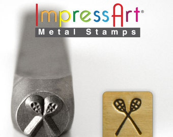 "LACROSSE STICKS METaL STaMP 6mm 1/4"" Steel Punch ImpressArt Stamping Sports Equipment Tool Jewelry Making Tool"