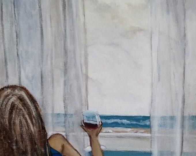Original Beach House Art - Acrylic painting