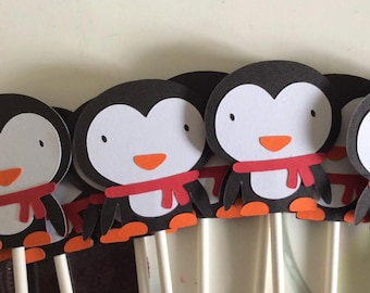 12 Jack the Penguin Cupcake toppers