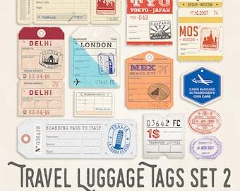 Travel Luggage Illustrations Set 2