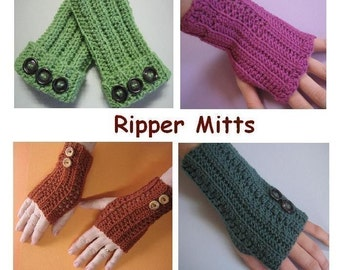 Ripper Mitts (crochet patterns)