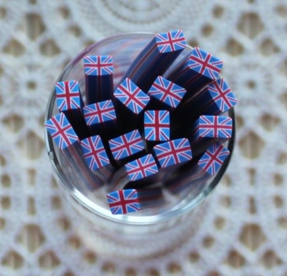 1 Piece.5mm Cute UK Flag Polymer Clay Cane. Craft Supplies. Jewellery Supplies